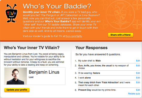 Who's You Baddie? Facebook app