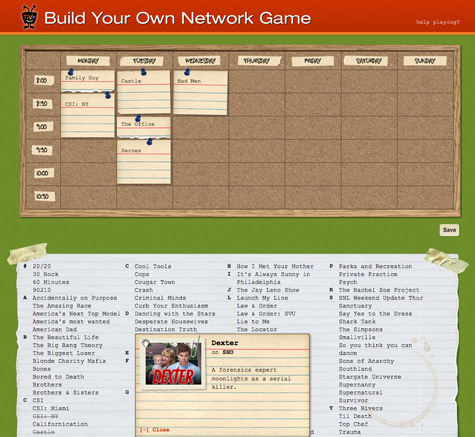 TiVo's Build Your Own Network Game